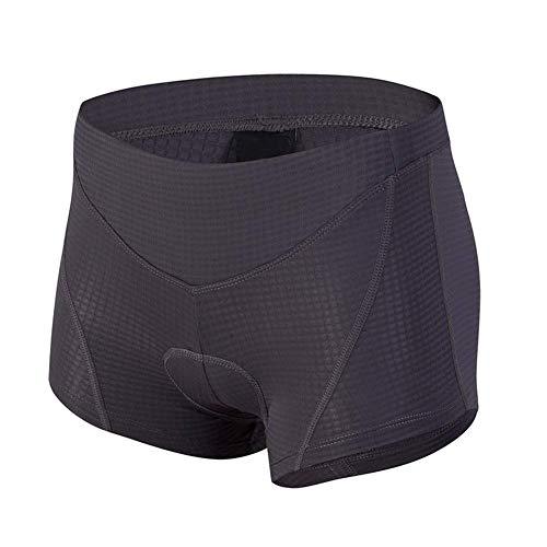 d.Stil Herren Fahrrad Unterhose Gel 4D mit Sitzpolster Atmungsaktiv für MTB Radsport Fahrrad Unterwäsche S - 2XL (schwarz, M)