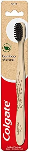 Colgate Bamboo Charcoal Black Soft Toothbrush (Pack of 1)
