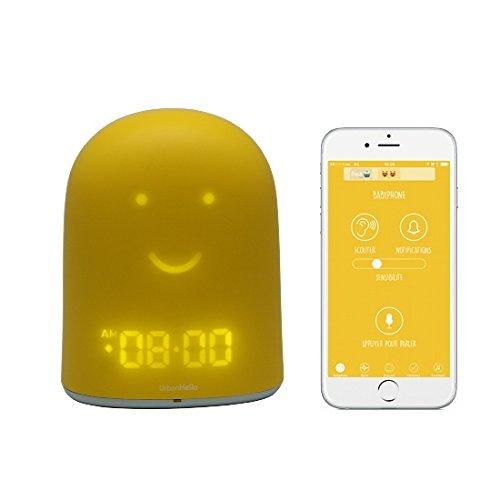 Gelbes REMI - Babyfon + Nachtlicht + Schlaftrainer + Bluetooth-Player