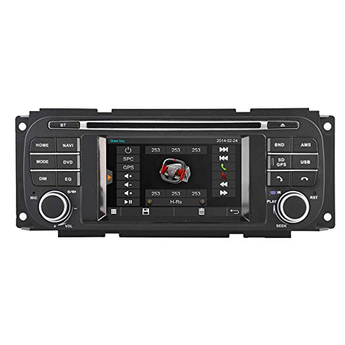 witson® für Jeep Grand Cherokee/DURANGO/Grand Cherokee/Jeep Liberty/Caravan/Concorde/Dakota/300 M */interpid/PT Cruiser/RAM Pick-Up/Sebring Cabrio/Sebring Limousine/Stratus Limousine/Jeep Wrangler Auto DVD GPS Navigation Audio Video Stereo System mit kapazitivem Touch-Display Radio (am/fm) Unterstützung SD/USB/iPod/iPhone/3G/Video/DVR/Back Up Kamera/Bluetooth für Hands-Free/Lenkradfernbedienung (Navigation Dodge 2007 Radio Ram)