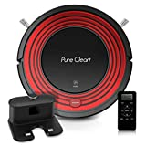 PureClean Automatic Programmable Robot Vacuum Cleaner - Robotic Auto Home Cleaning for Clean Carpet Hardwood Floor w/Self Activation and Charge Dock - HEPA Pet Hair & Allergies Friendly PUCRC95UK