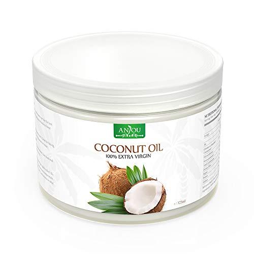 Kokosöl Anjou Naturbelassen Kaltgepresst und Nativ für Haare, Haut, Gesundheit, Pflege, Küche, Backen, 325ml