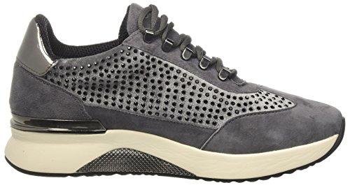 Sneakers in camoscio e velluto Cafè Noir LDA526 Grigio
