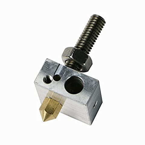 JGAURORA 3D Printer Nozzle Suite 0.4mm Brass Extruder Nozzle with