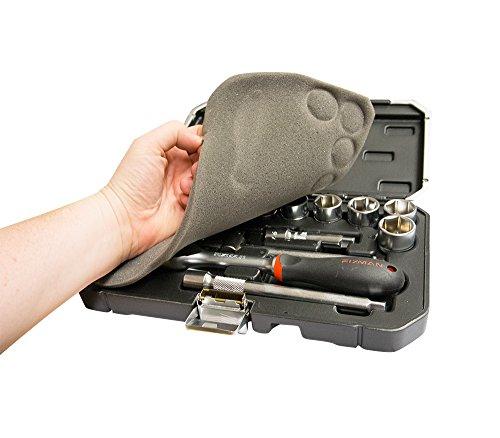 Werkzeugkoffer – Koffer mit Ratschmaulschlüssel und 3/8'' Einsätze 20 tlg, Einsätze 15 tlg 8-22mm und 5 Zubehöre, Koffer mit 3/8''Einsätzen und Zubehören 20 tlg, Werkzeugsatz Ratschmaulschlüssel/Einsätze (20 tlg) - 3