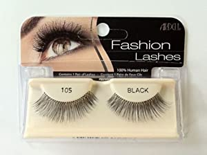 Best Quality** Ardell Fashion Eye Lashes 100% Human Hair** No 105 Black **Best Seller