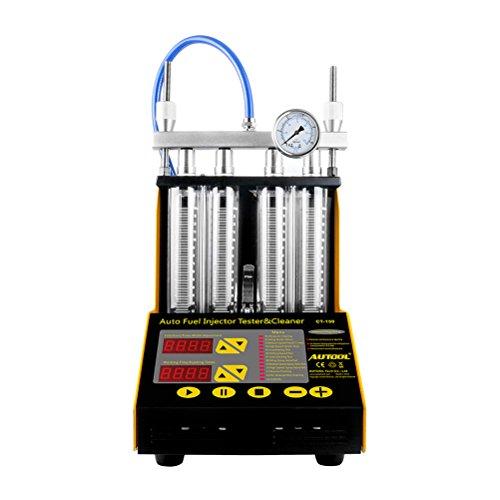 BELEY AUTOOL CT-150 Auto Motorrad Benzin Einspritzdüse Reiniger Ultraschallreiniger und Injektionsprüfer für Auto 4 Zylinder