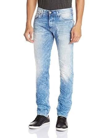 Jack & Jones Men's Tim Slim Fit Jeans (Medium Blue) (5711889210538)