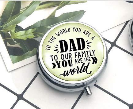 The World You Are A Dad from Son Daughter Schlüsselanhänger, Vintage-inspiriert, für Herren, Pillendose/Pillendose