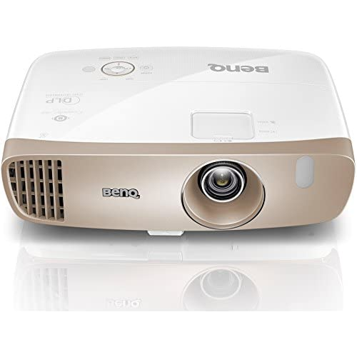 41cAZ5Q9CeL. SS500  - BenQ W2000 1080p Home Cinema Projector (Rec.709, DLP, 2000 Lumens, 15000:1 High Contrast Ratio, Short Throw, 20 W Speaker, 3D, HDMI, CinePrime Series) - Gold/white