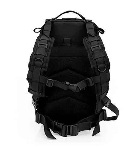 Pyrus 30L Outdoor Militär Army Tactical Rucksack Oxford Sport Camouflage Tasche für Camping Reisen Wandern Trekking Schwarz