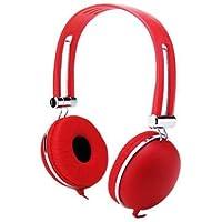 Premium-Cuffie Stereo Over-Head-Cuffie con microfono Wireless per Verizon Ellipsis Ellipsis 7/8 MYNETDEALS pennino, colore: rosso