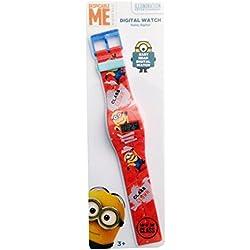 Orange Minions Children's Digital Display Watch with Orange Dial Plastic Strap MN003