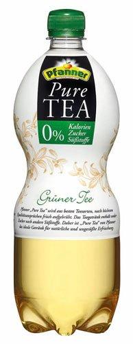 Pfanner Bio Pure Tea Grüner Tee, 0 % Kalorien/Zucker/Süßstoffe - 1L - 4x (Tee 0)