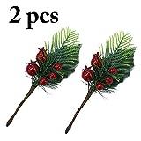Justdolife 2PCS Weihnachtsbeeren Dekorative Künstliche Beeren DIY Gefälschte Pflanze
