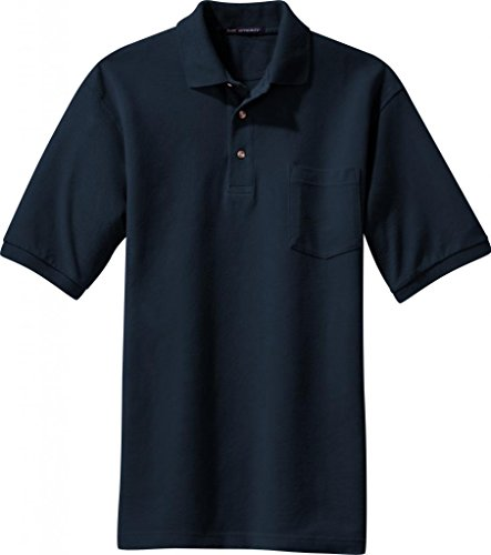 Port Authority Pique Sport Shirt W Tasche (k420p) Navy