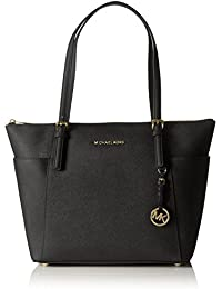 Michael Kors - Jet Set Large Top-Zip Saffiano Leather Tote, Borse a Tracolla Donna