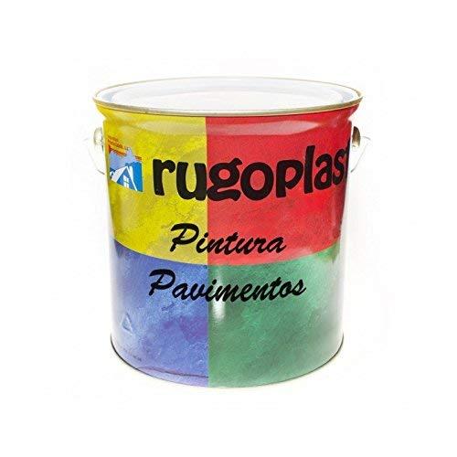 Rugoplast - Pintura monocomponente para suelos y garajes ( hormigón, morteros de cemento y derivados ) al clorocaucho alta dureza , Gris