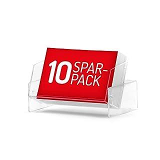 Visitenkarten-Boxen (glasklar, transparent) im günstigen 10er-Spar-Pack. Etuis zum Aufbewahren Ihrer Geschäftskarten - auch als Aufsteller nutzbar.