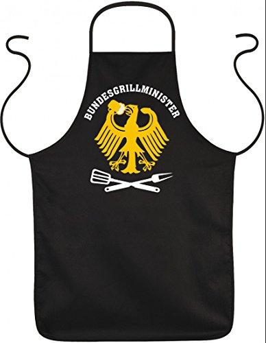 Schürze Schurz - Bundesgrillminister - Mit Urkunde - Tolle Geschenk Idee für Grill Fans ! (Schürze Natürliche Baumwolle)