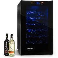 Klarstein MKS-2 • minibar • refrigérateur à boissons • 70 litres • 28 bouteilles • 6 étagères • silencieux • commande écran tactile • température : 08 °- 18 ° C • Éclairage intérieur LED • noir