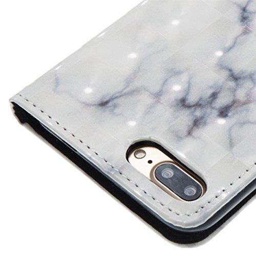 Coque pour Apple iPhone 7 Plus / iPhone 8 Plus WYSTORE Coloré Motif PU Cuir portefeuille Housse Etui pour iPhone 8 Plus/7 Plus(Ecran: 5.5 pouces) Case Coque Protection avec Béquille Flip Cover avec ca A02