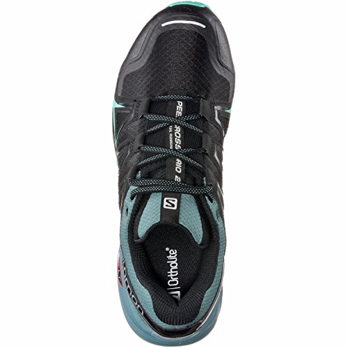 Salomon Speedcross Vario 2 W, Scarpe da Trail Running Donna Nero (Black/north Atlantic/biscay Green)