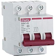 OIASD Interruptor de Aire DZ47 Abierto Interruptor doméstico trifásico de Tres Hilos 380V de Interruptor trifásico