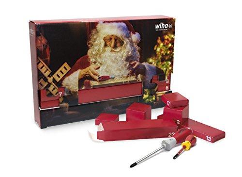 Wiha Adventskalender, Werkzeug, Werkstatt, Perfektes Geschenk für Heimwerker, Rot, Standard