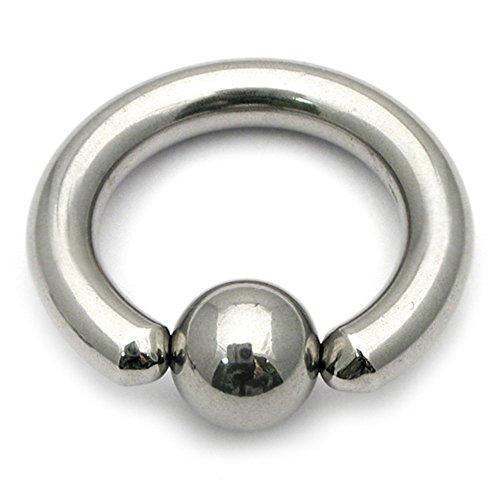 Titanium BCR mit Ball. 3.0mm, 16mm Interner Durchmesser mit 6mm Ball. Ball Closure Ring. PA Ring, Ohr Piercing und andere