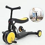 EOVL 5-in-1 Kinder Roller Scooter mit Abnehmbarem Sitz, Große Räder, Höheverstellbare Lenker für...