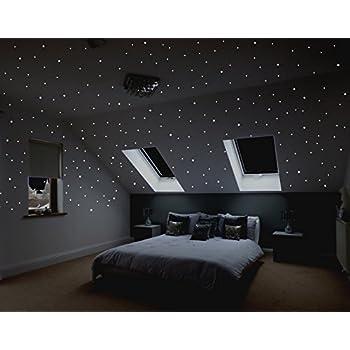 Amazon.de: Wandtattoo Loft® Sternenhimmel 350 fluoreszierende ...