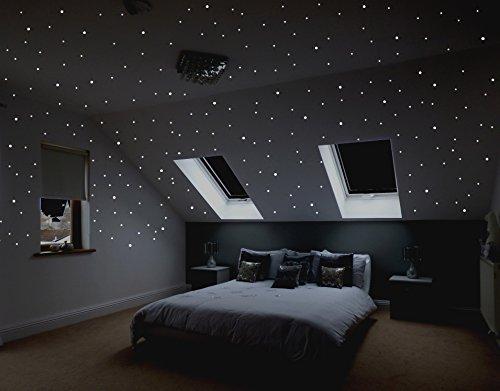 """""""Sternenreich"""" Realistischer Sternenhimmel mit über 400 selbstklebenden, leuchtenden Sternen (Leuchtpunkte) für Babyzimmer, Kinderzimmer und Schlafzimmer mit starker und lang anhaltender Leuchtkraft. #2"""