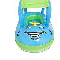 Anillo de natación, huhua bebé niños madre inflable flotador piscina flotador agua asiento silla coche Flamingo barco I Fun, color azul, tamaño Small