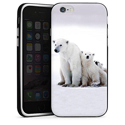 Apple iPhone 5 Housse Outdoor Étui militaire Coque Ours polaire Ours Ours Housse en silicone noir / blanc
