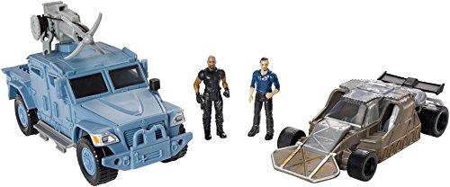 Mattel fcg35–Fast et Furious Stunt Stars Hobbs et Navi Star MXT Owen Shaw et étui à rabat Car