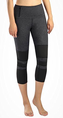 Munvot Mesh Seitentasche Sport Leggings Damen Sporthose Fitnesshose Sport Tights Mit Handytasche