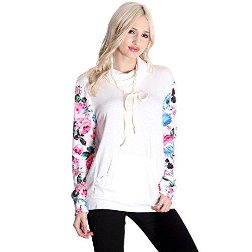 camicia floreale delle donne, FEITONG casual camicia