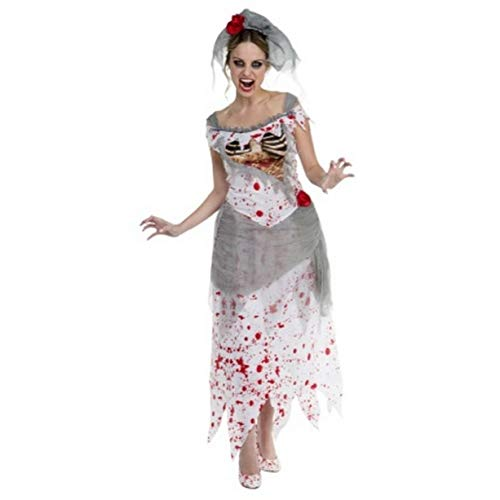 Corpse Bride Kleid Damen Scary Halloween-Kostüm