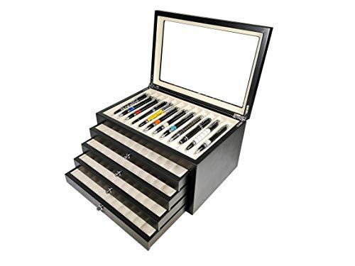 Vitrina madera expositor 56 estilograficas Black