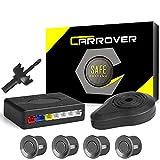 CAR ROVER Sensor Aparcamiento Kit 4 Sensor Marcha Atras con Zumbador Bibi Alarma de Sonido (Gris)