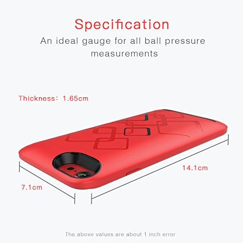 Adesugata Capacité 5000mAh Coque batterie ultra fin souple avec chargeur de téléphone Coque pour iPhone 6/6s Portable rechargeable Extended batterie de secours étui de chargement Lot externe banque d Red