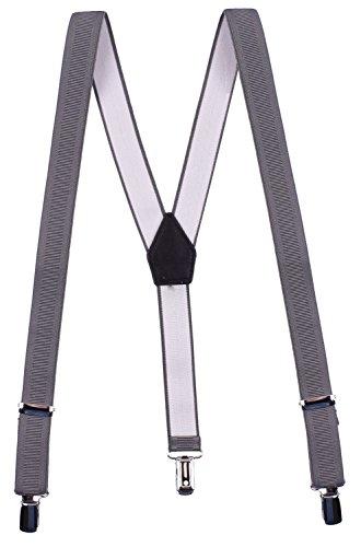 Bretelle Uomo Bretelle Pantaloni da Uomo,Bretelle di Larghezza 2.5cm Forma a Y con 3 Clip, Regolabile ed Elastico Vari Stili e Colori