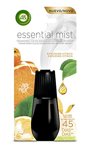 Air Wick Essential Mist Recambio Ambientador Explosión Cítrica - Paquete de 6 Recambios