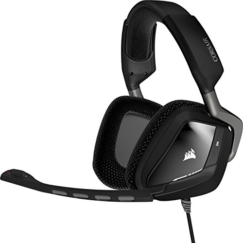 Corsair - Auriculares gaming para PC (cómodos, Carbon, USB, Dolby 7.1), negro...
