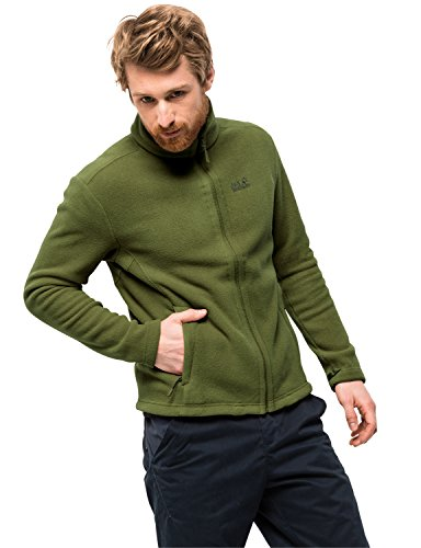 Jack Wolfskin Herren Moonrise Jacket Men Robust Systemreißverschluss Outdoor Fleecejacke, Cypress grün, XXL