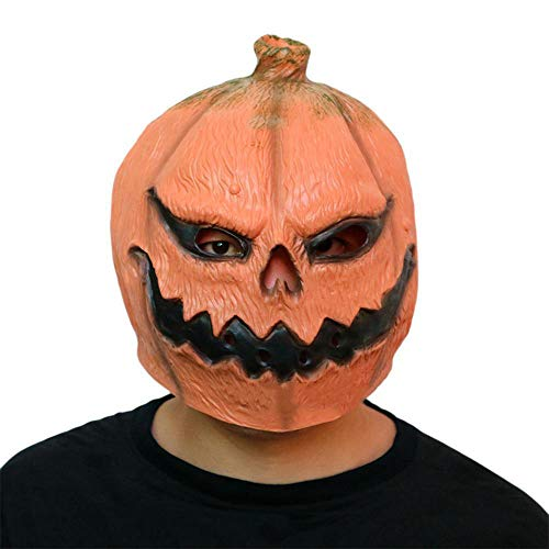 Circlefly Halloween Kürbis Kopf Maske Horrormaske lustig Maskiert Latex Kleid bis Leistung ()