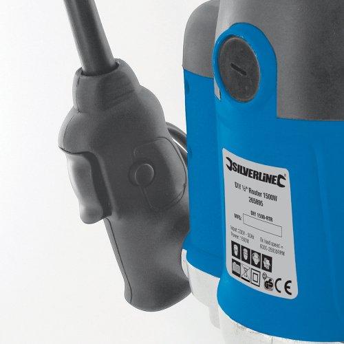 Silverline 264895 Plunge Router, 1/2 inch, 1500 W