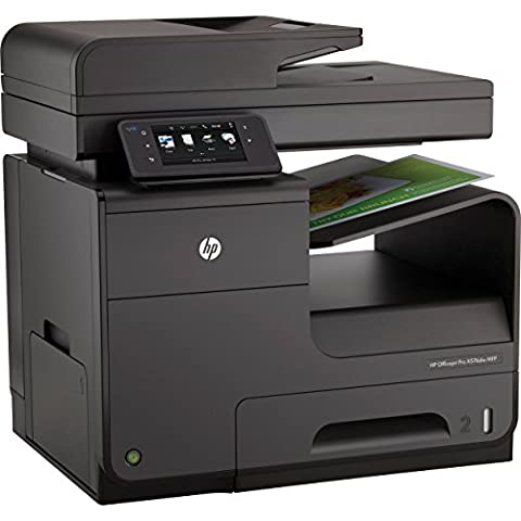 HP Officejet Pro X576dw e-All-in-One Tintenstrahl Multifunktionsdrucker (A4, Drucker, Scanner, Kopierer, Fax, Dokumentenecht, Wlan, USB, 1200x1200) (Scanner A4 Lan)