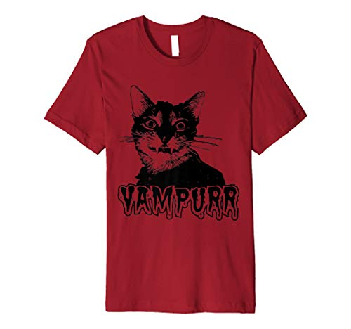 vampurr–Funny Vampire Kitty Cat–Halloween T Shirt